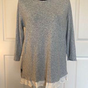 LOFT Ruffled Trimmed Sweater